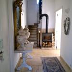 Hallway with woodburner